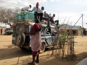Stiekem genomen foto van de plaatselijke bevolking in Rufu