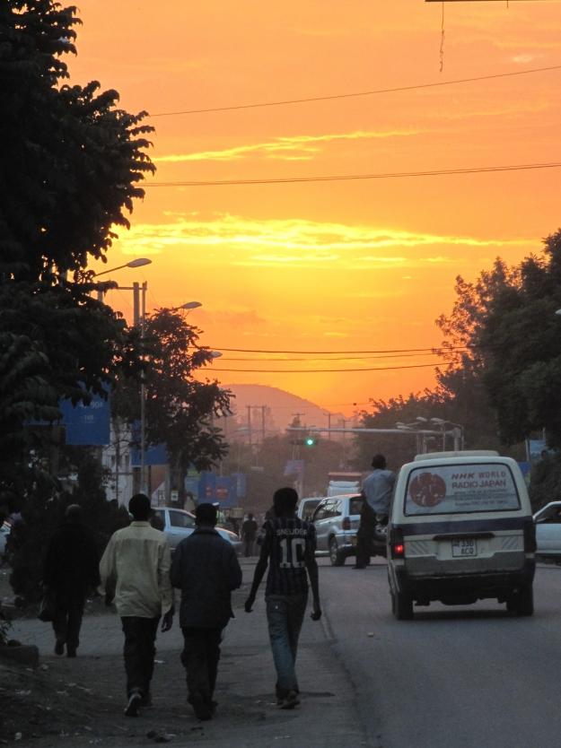 Arusha in de avonduren