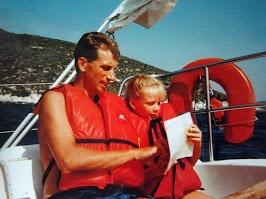 Samen met mijn papa de kaart bekijken...